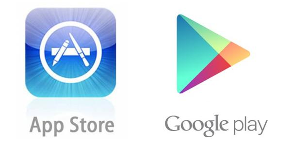 Infographie : Google Play VS App Store
