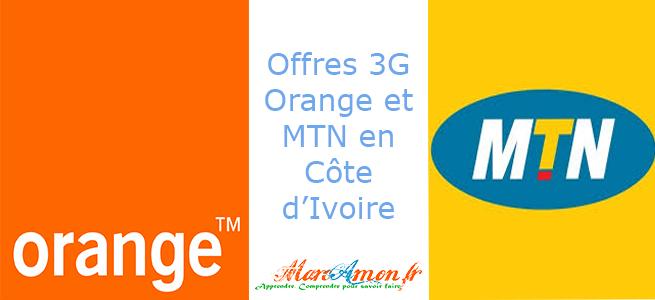Les offres 3G de MTN et Orange en Côte d'Ivoire