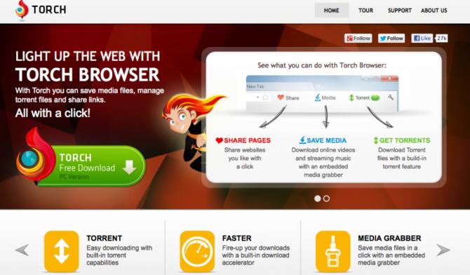 TorchBrowser, un navigateur multi-fonctions
