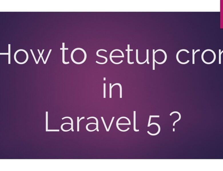 Définir des tâches cron avec Laravel