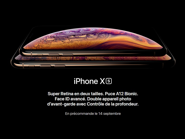 Apple iPhone Xs, Xs Max et Xr, dates de sorties et specs